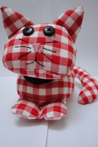 red cat face